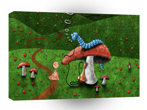 Abstract Cartoon Alice Wonderland Caterpillar Hookah A1 Canvas