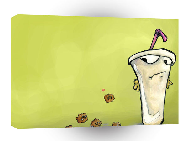 Abstract Cartoon Chocolate Milkshake A1 Canvas