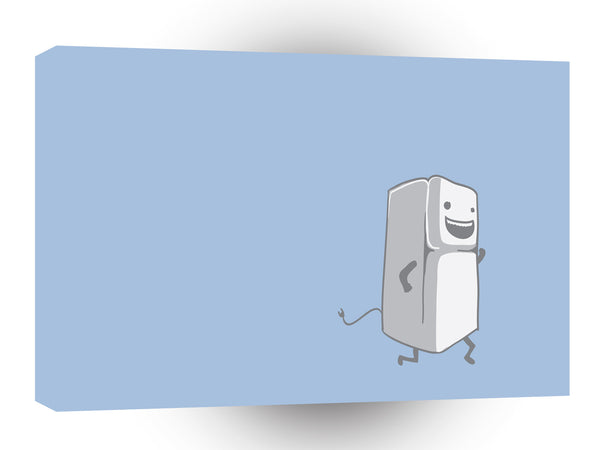Abstract Cartoon Funny Fridge Running A1 Canvas