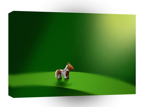 Abstract Cartoon Mini Micro Horse  A1 Xlarge Canvas