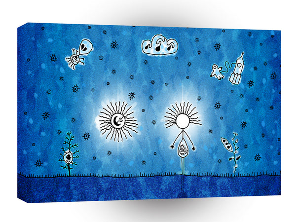 Abstract Cartoon Pregnancy For Everyone A1 Xlarge Canvas