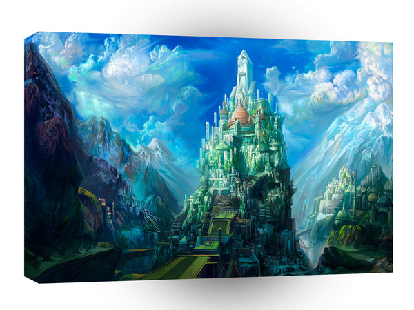 Abstract City 23rd Century Lost City A1 Canvas