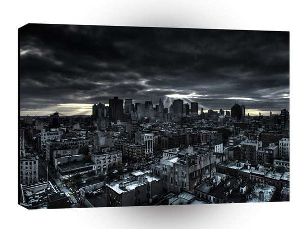 Abstract City Dark City A1 Xlarge Canvas