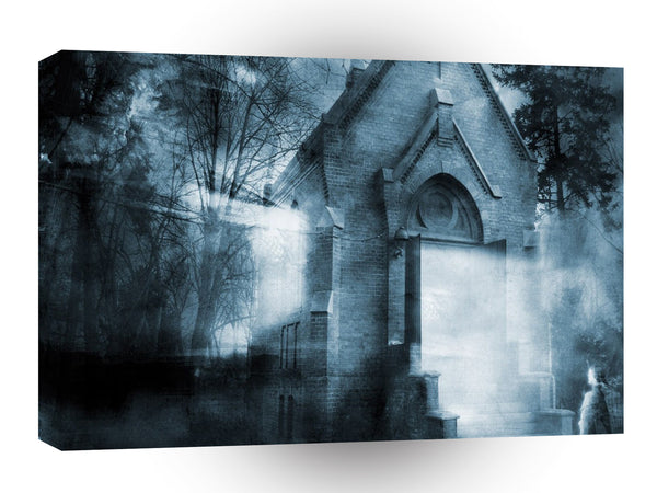 Abstract City Dark Crypt A1 Xlarge Canvas