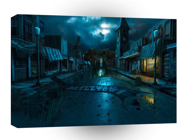 Abstract City Dark Milltown A1 Xlarge Canvas
