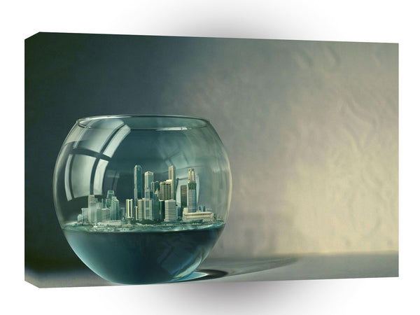 Abstract City Goldfish Bowl A1 Xlarge Canvas