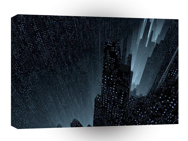 Abstract City Gotham City A1 Xlarge Canvas