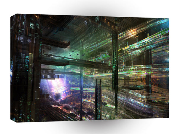 Abstract City Matrix City A1 Xlarge Canvas