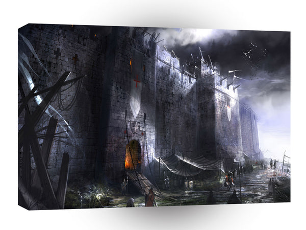 Abstract City Medieval Castle A1 Xlarge CAnvas