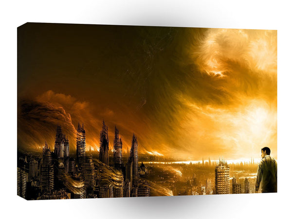 Abstract City New Dawn A1 Xlarge Canvas