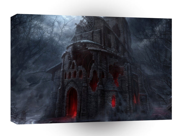 Abstract City Vampire Mill A1 Xlarge Canvas