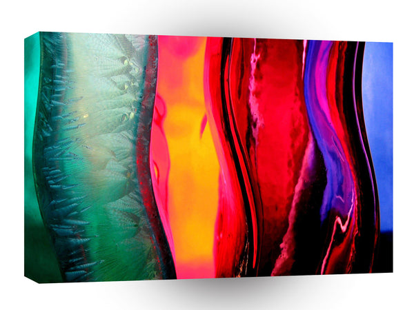Abstract Colored Bottles Curves A1 Xlarge Canvas