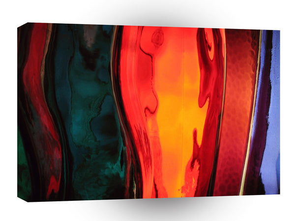 Abstract Colored Bottles A1 Xlarge Canvas