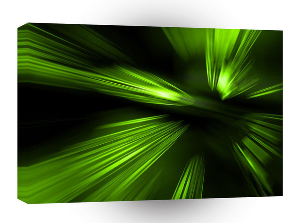 Abstract Colors Green Blaze A1 Xlarge Canvas