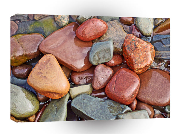Abstract Cool Wet Pebbles A1 Xlarge Canvas