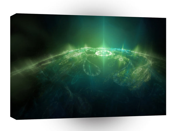 Abstract Crystals Green Globe A1 Xlarge Canvas