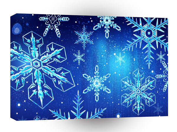Abstract Crystals Perfect Snow Flakes A1 Xlarge Canvas
