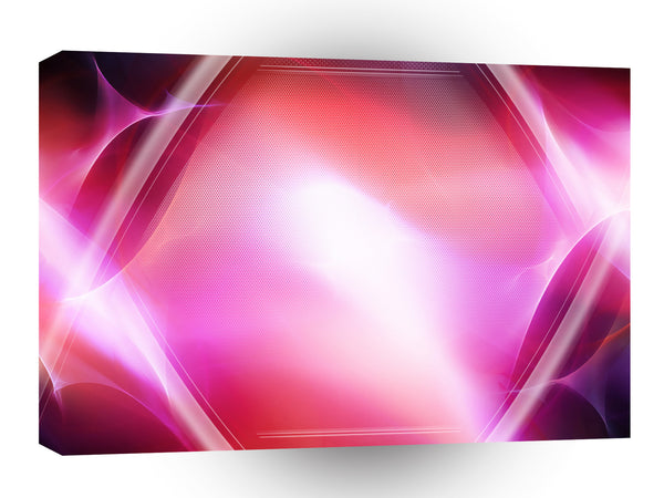 Abstract Crystals Pink Diamond A1 Xlarge Canvas