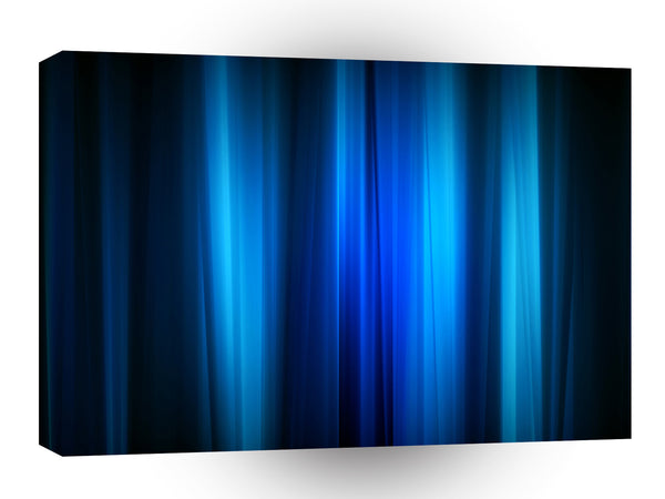 Abstract Crystals Stretched Blue Bars A1 Xlarge Canvas