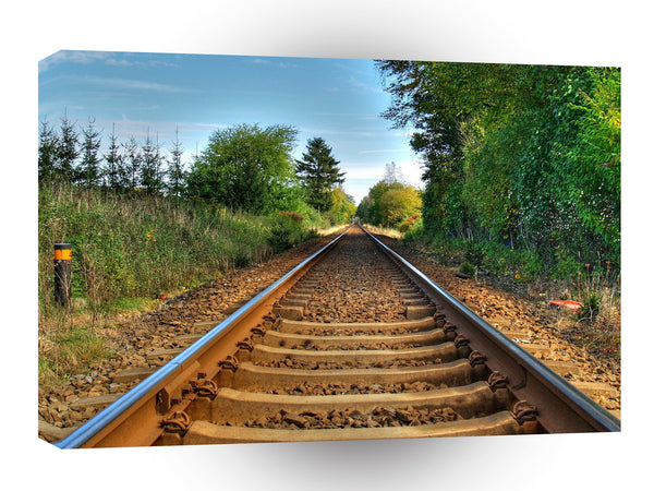 Abstract Everyday Along The Tracks A1 Xlarge Canvas