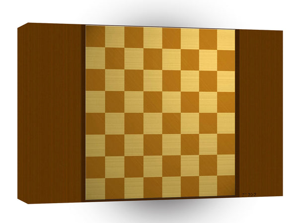 Abstract Everyday Chess Board A1 Xlarge Canvas