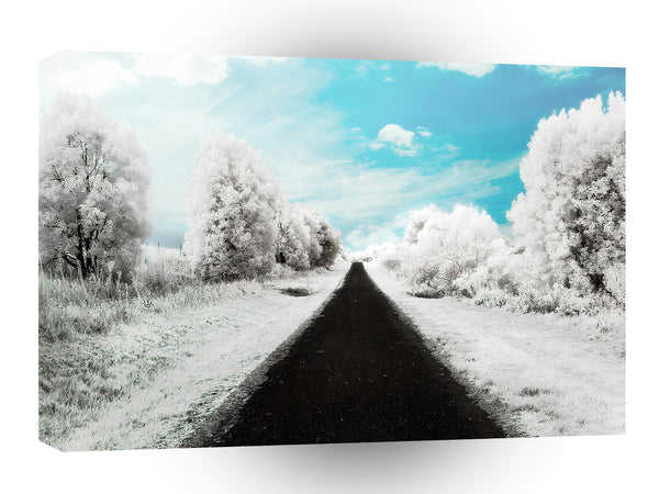 Abstract Everyday Winter Roads A1 Xlarge Canvas