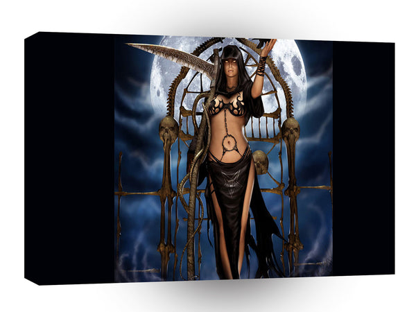 Abstract Fantasy Black Magic Princess A1 Xlarge Canvas