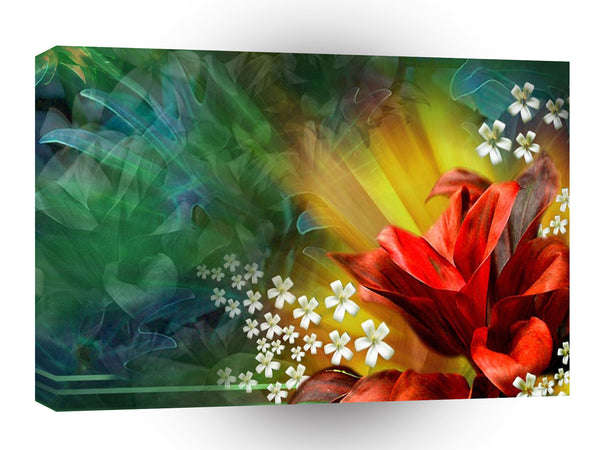 Abstract Flower Full Bloom A1 Xlarge Canvas