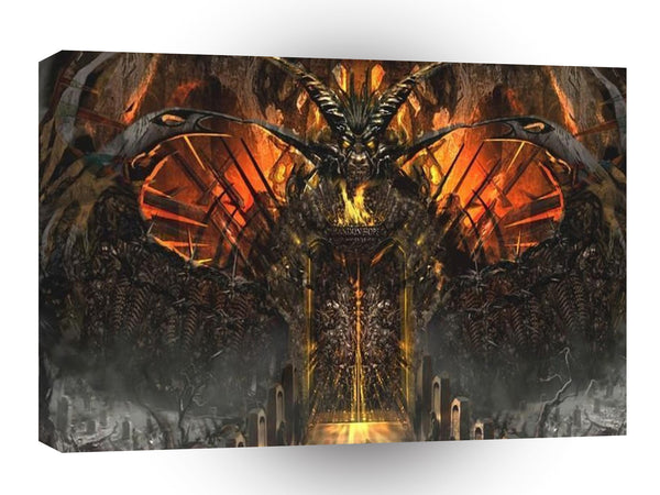 Abstract Horror Approach The Gates Of Hell A1 Xlarge Canvas