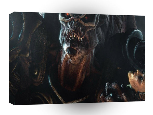 Abstract Horror Beauties Ugliest Beast A1 Xlarge Canvas