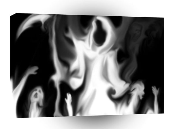 Abstract Horror Blurred Ghost Vision A1 Xlarge Canvas