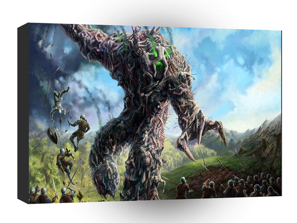 Abstract Horror Dark Art Tree Demon A1 Xlarge Canvas