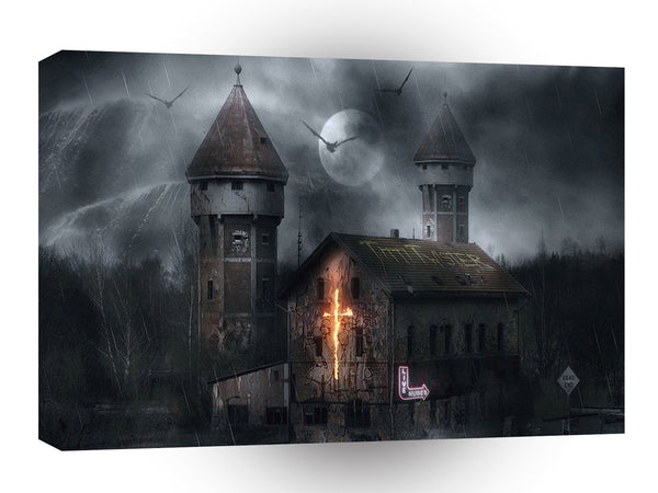 Abstract Horror Dark Places A1 Xlarge Canvas