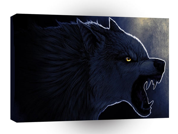 Abstract Horror Dark Wolf Silhouette A1 Xlarge Canvas
