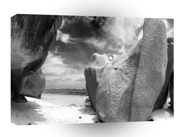 Abstract Landscape Big Boulder Beach A1 Xlarge Canvas