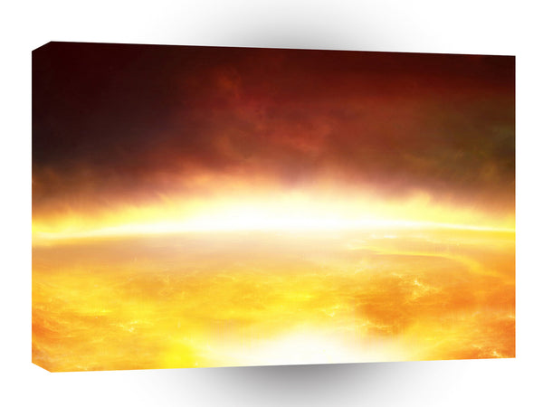 Abstract Natural Force Hot Light A1 Xlarge Canvas