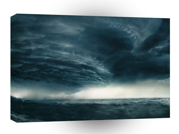 Abstract Natural Force Sea Storm A1 Xlarge Canvas