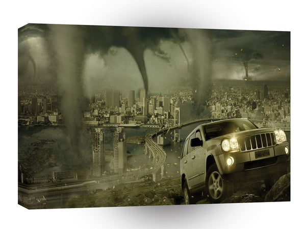 Abstract Nature Force Tornado City Storm A1 Xlarge Canvas