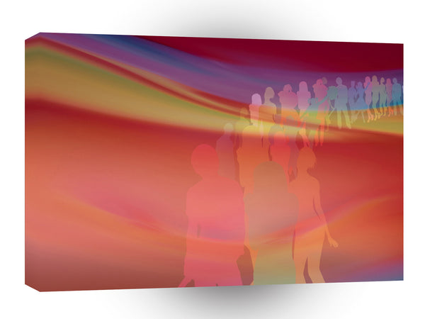 Abstract People 60 S Love Parade A1 Xlarge Canvas