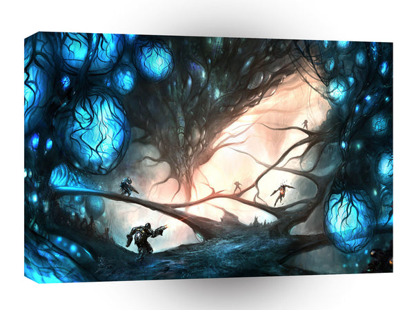 Abstract Sci Fi Eden Garden Battle A1 Xlarge Canvas