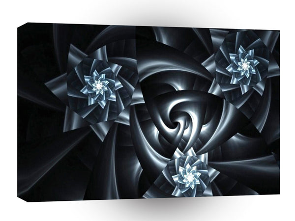 Abstract Shape Black Spiral Ribbons A1 Xlarge Canvas