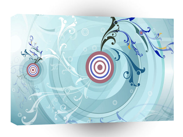 Abstract Shape Circled Targets A1 Xlarge Canvas
