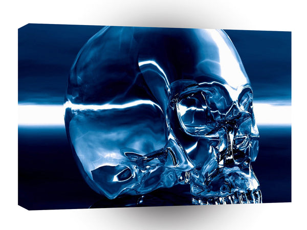 Abstract Skeletons Blue Crystal Skull A1 Xlarge Canvas