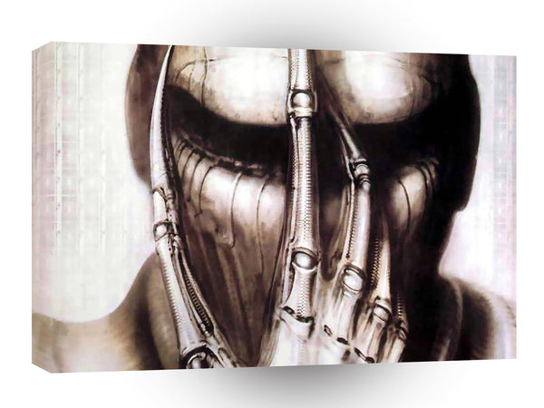 Abstract Skeletons Cybernetic Skull A1 Xlarge Canvas