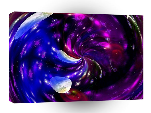 Abstract Spiral Colour Black Hole A1 Xlarge Canvas