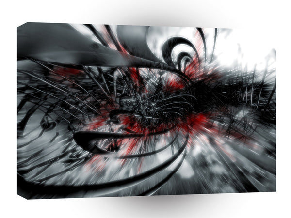 Abstract Spiral Disturbing Past A1 Xlarge Canvas