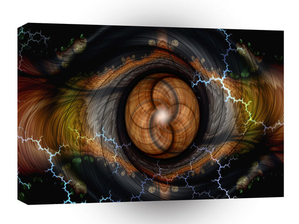 Abstract Spiral Eye Of Time A1 Xlarge Canvas