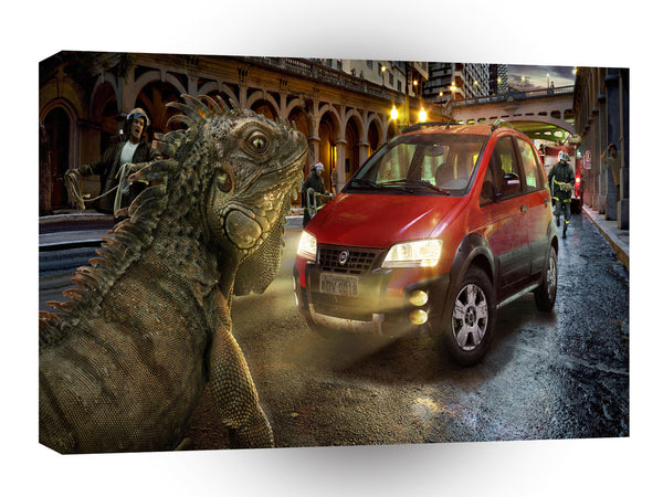 Abstract Transport City Giant Lizard A1 Xlarge Canvas