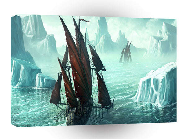 Abstract Transport Cold Sea Vikings A1 Xlarge Canvas