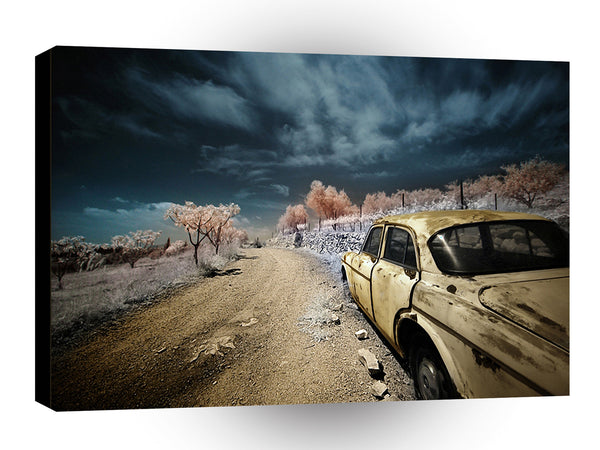 Abstract Transport Deserted Taxi A1 Xlarge Canvas